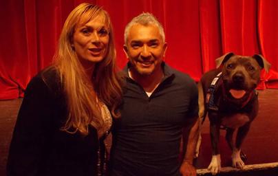 Snadra Dezelan with Cesar Millan