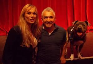 Cesar Millan and Sandra Dezelan